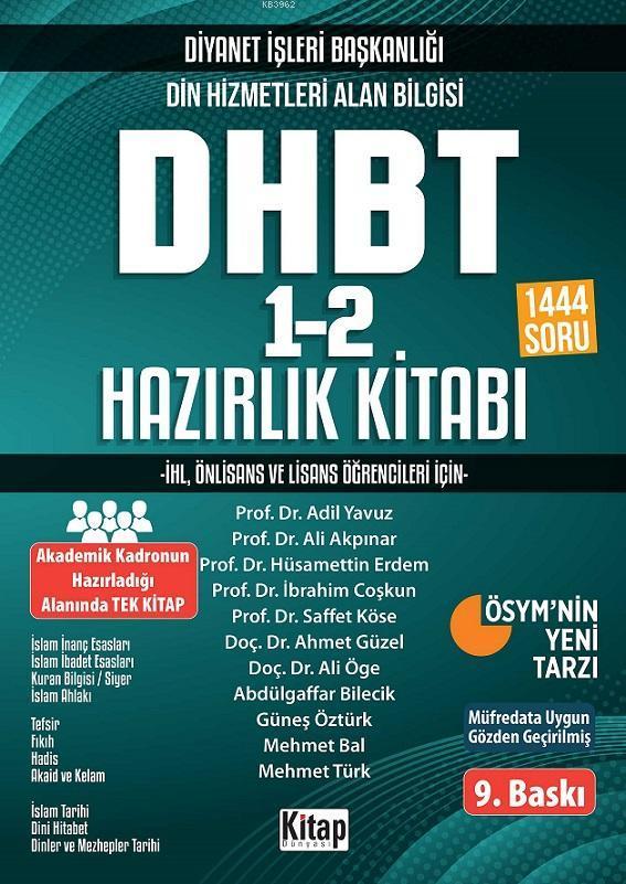DHBT 1-2 Hazırlık Kitabı; Kpss Ortaöğretim Din Hizmetleri Alan Bilgisi
