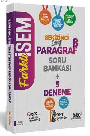 İsem Yayınları 8. Sınıf LGS Paragraf Soru Bankası + 5 Deneme İsem