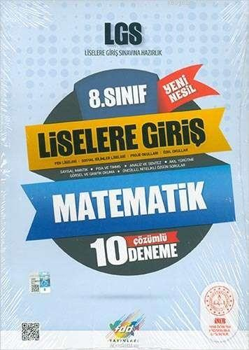 FDD Yayınları 8. Sınıf LGS Matematik Çözümlü 10 Deneme FDD