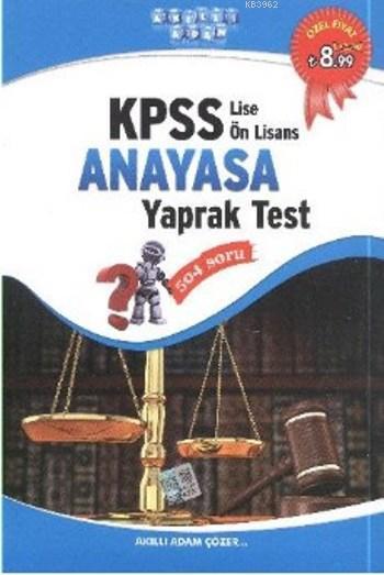 KPSS Lise Önlisans Anayasa Yaprak Test