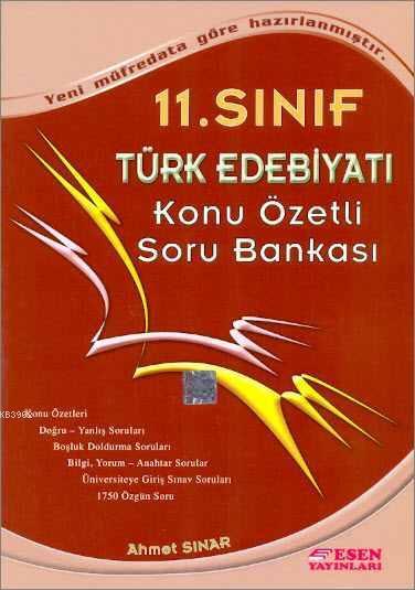 11. Sınıf Türk Edebiyatı Konu Özetli Soru Bankası