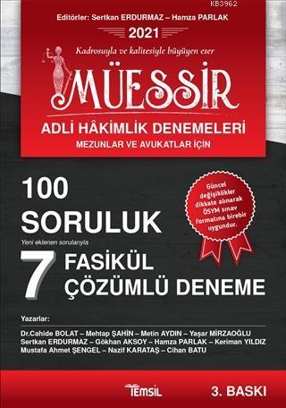 Müessir Adli Hakimlik Denemeleri (Mezunlar ve Avukatlar İçin); 100 Soruluk 7 Fasikül Çözümlü Deneme