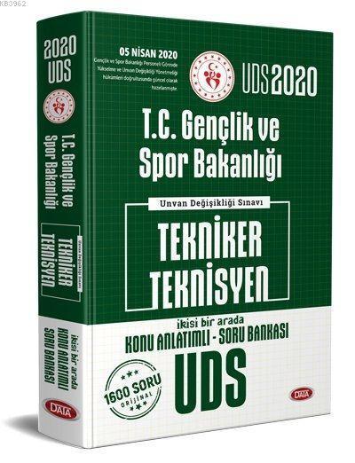 Data Yayınları 2020 UDS T.C. Gençlik ve Spor Bakanlığı Tekniker Teknisyen Konu Anlatımlı Soru Bankas