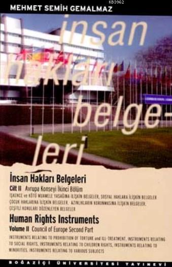 İnsan Hakları Belgeleri Cilt: 2; Avrupa Konseyi İkinci Bölüm