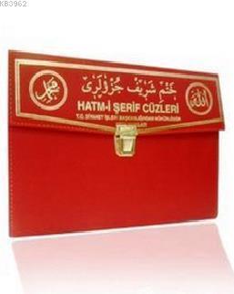Kur'an-ı Kerim 30 Cüz Hatim Seti (Cami Boy, Çantalı, Kırmızı Kapak, Kod: 110)