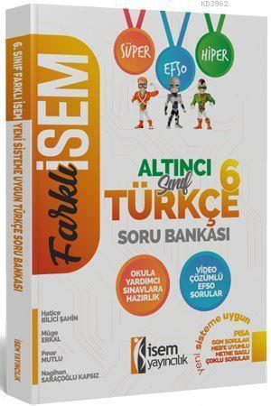 İsem Yayınları 6. Sınıf Türkçe Soru Bankası İsem