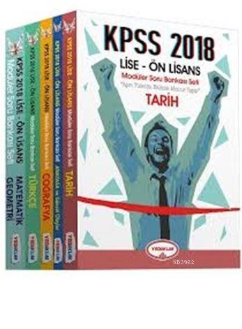 KPSS 2018 Lise-Ön Lisans Modüler Soru Bankası-5 Kitap Takım