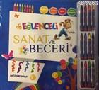 Eğlenceli Sanat ve Beceri Lacivert Kitap (5 Yaş - Kalemli)
