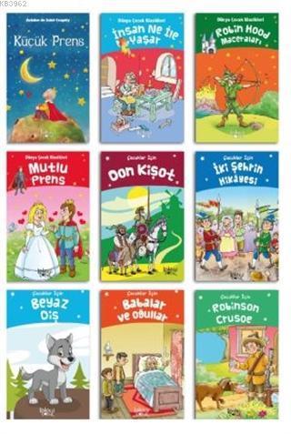 Çocuklar için Edebiyatı Seti (9 Kitap)