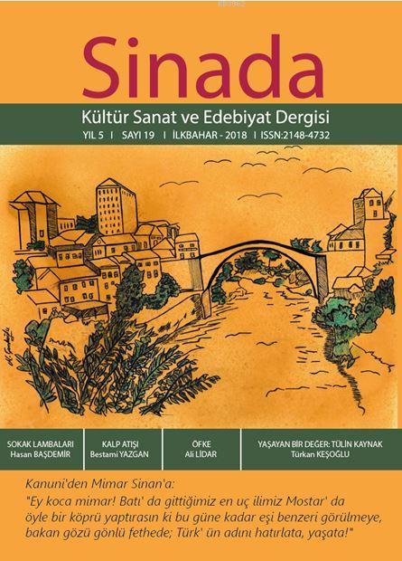 Sinada Dergisi Kültür Sanat ve Edebiyat Dergisi 19. Sayı İlkbahar