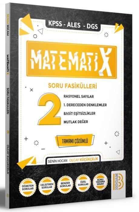 2021 KPSS ALES DGS MatematiX Soru Fasikülleri 2 Benim Hocam Yayınları