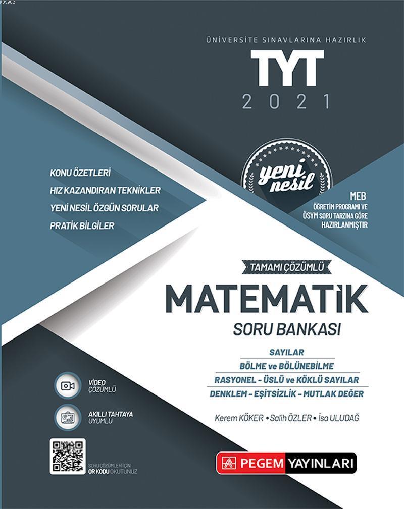Üniversite Sınavlarını Hazırlık TYT Tamamı Çözümlü Matematik Soru Bankası