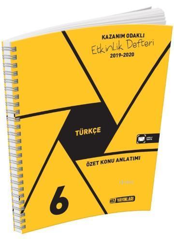 Hız Yayınları 6. Sınıf Türkçe Özet Konu Anlatımı Etkinlik Defteri Hız