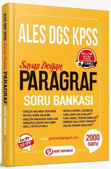 Veri Yayınevi 2020 ALES DGS KPSS Paragraf Soru Bankası