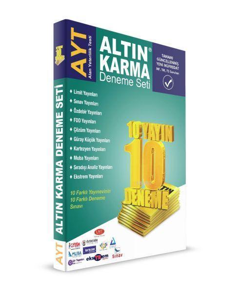 Altın Karma AYT Deneme Seti (10 Farklı Yayın 10 Farklı Deneme)