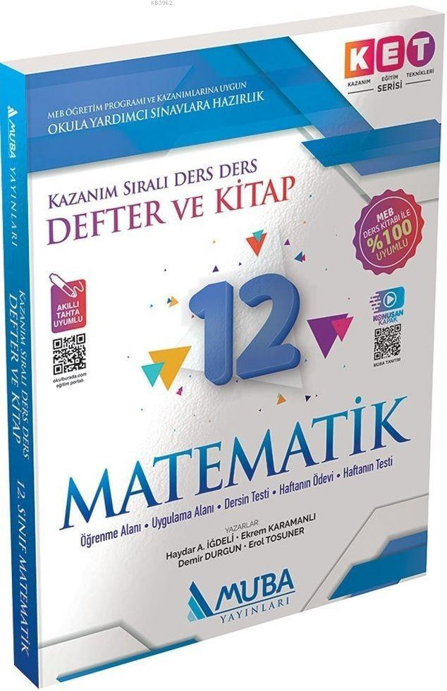 Muba Yayınları 12. Sınıf Matematik KET Serisi Defter ve Kitap Muba