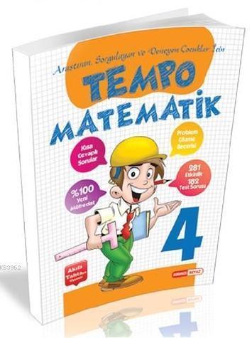 Kırmızı Beyaz Yayınları 4. Sınıf Tempo Matematik Kırmızı Beyaz