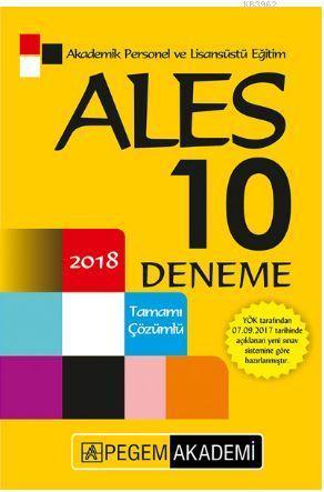 2018 ALES Tamamı Çözümlü 10 Deneme
