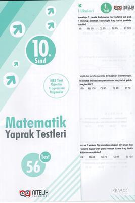 Nitelik - 10. Sınıf Matematik Yaprak Test *Yeni* 2019