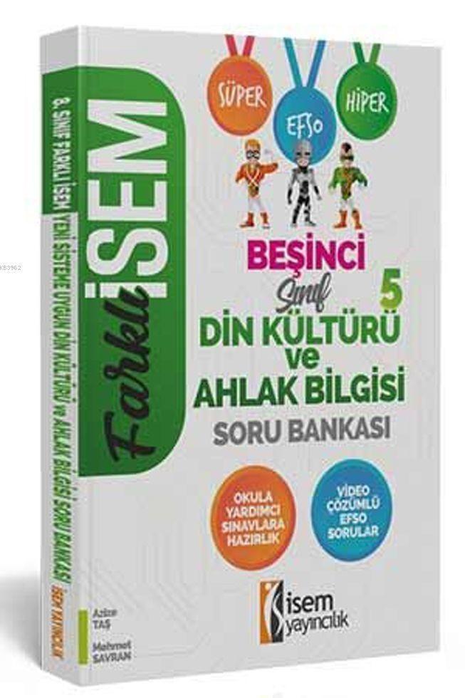 İsem Yayınları 5. Sınıf Din Kültürü ve Ahlak Bilgisi Soru Bankası İsem