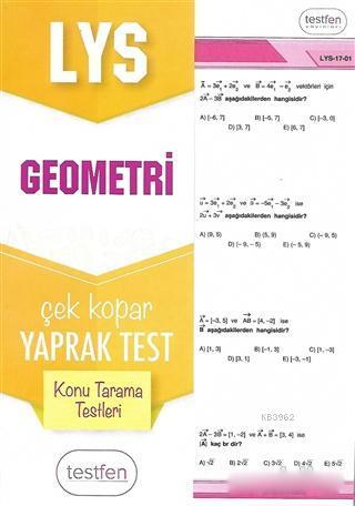 2018 LYS Geometri Konu Tarama Yaprak Testleri