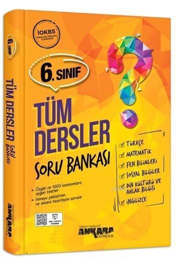 Ankara Yayınları 6. Sınıf Tüm Dersler Soru Bankası Ankara