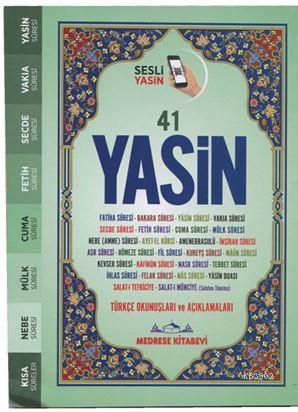 Fihristli 41 Yasin Türkçe Okunuşu ve Meali, Sesli; (Çanta Boy)