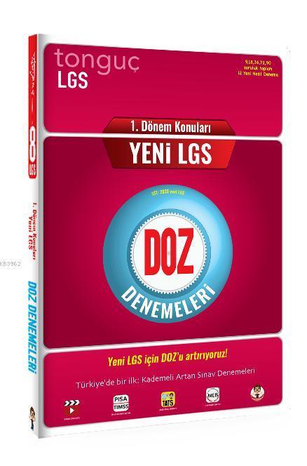 Tonguç Yayınları 8. Sınıf 1. Dönem LGS DOZ Denemeleri Tonguç