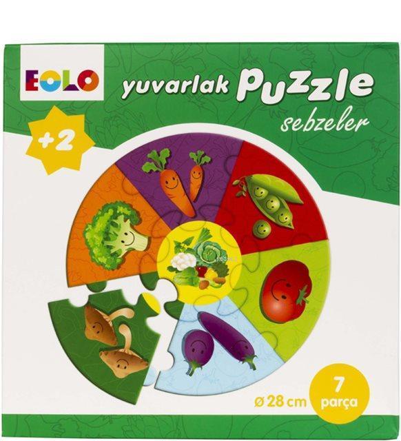 Yuvarlak Puzzle - Sebzeler; 2 Yaş ve Üzeri