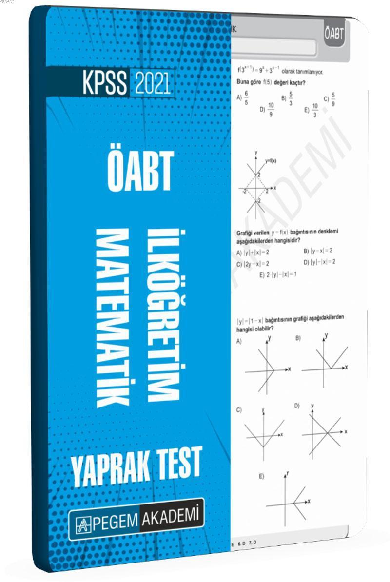 2021 KPSS ÖABT İlköğretim Yaprak Test