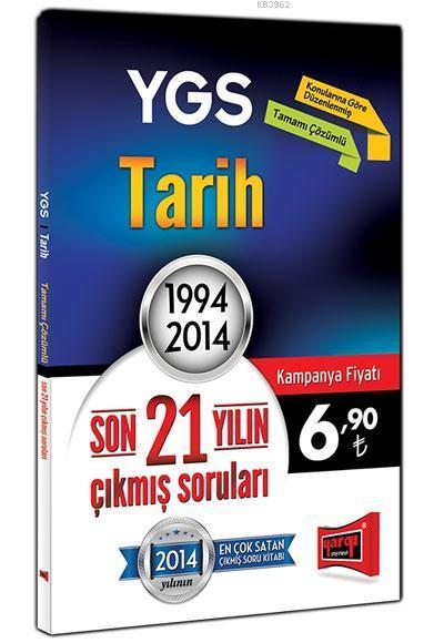 YGS Tarih Son 21 Yılın Çıkmış Soruları; 1994 - 2014