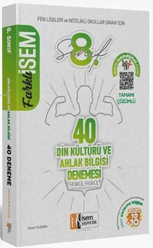 İsem Yayınları 8. Sınıf LGS Din Kültürü ve Ahlak Bilgisi 40 Deneme Sınavı İsem