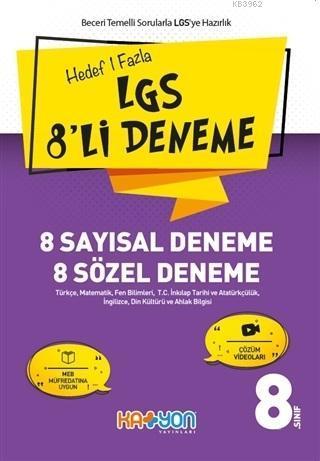 Hedef 1 Fazla LGS 8'li Deneme