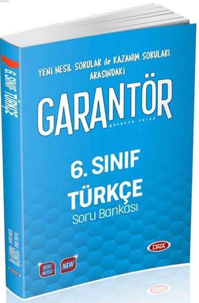 Data Yayınları 6. Sınıf Türkçe Garantör Soru Bankası Data