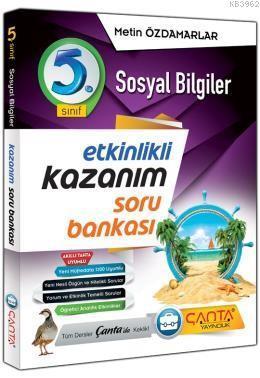 Çanta Yayınları 5. Sınıf Sosyal Bilgiler Kazanım Soru Bankası Çanta