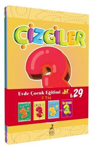Evde Çocuk Eğitimi Seti 3 Yaş (4 Kitap Takım)