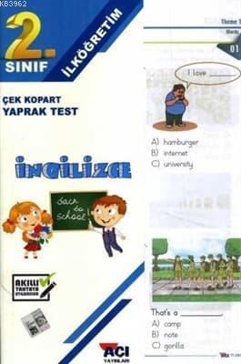 Açı Yayınları 2.Sınıf İngilizce Çek Kopart Yaprak Test