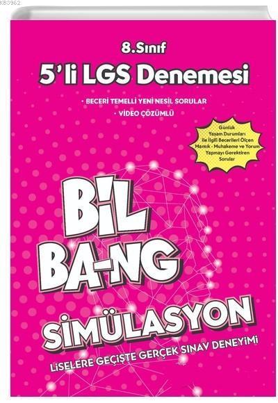 Kültür Yayınları 8. Sınıf LGS Bil Bang Simülasyon 5 li LGS Denemesi Kültür