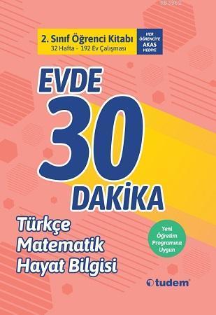 Tudem Yayınları 2. Sınıf Evde 30 Dakika Türkçe Matematik Hayat Bilgisi Soru Ev Çalışması Tudem