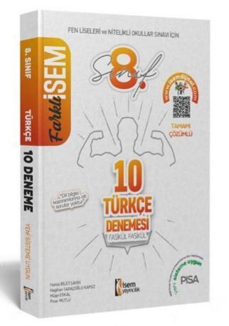 İsem 2021 Farklı İsem 8 Sınıf Türkçe Fasikül Fasikül 10 Deneme