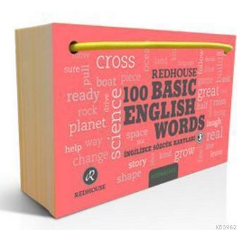 Redhouse 100 Basic English Words 3; İngilizce Sözlük Kartları