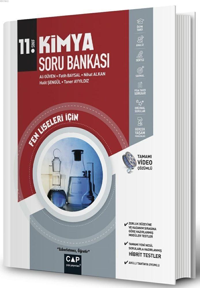 Çap Yayınları 11. Sınıf Fen Lisesi Kimya Soru Bankası Çap