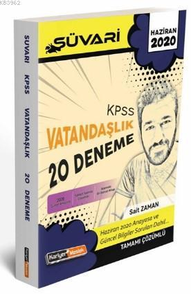 Kariyer Meslek 2020 KPSS Süvari Vatandaşlık Tamamı Çözümlü 20 Deneme