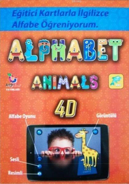 Alphabet Animals 4D; Eğitici Kartlarla İngilizce Alfabe Öğreniyorum