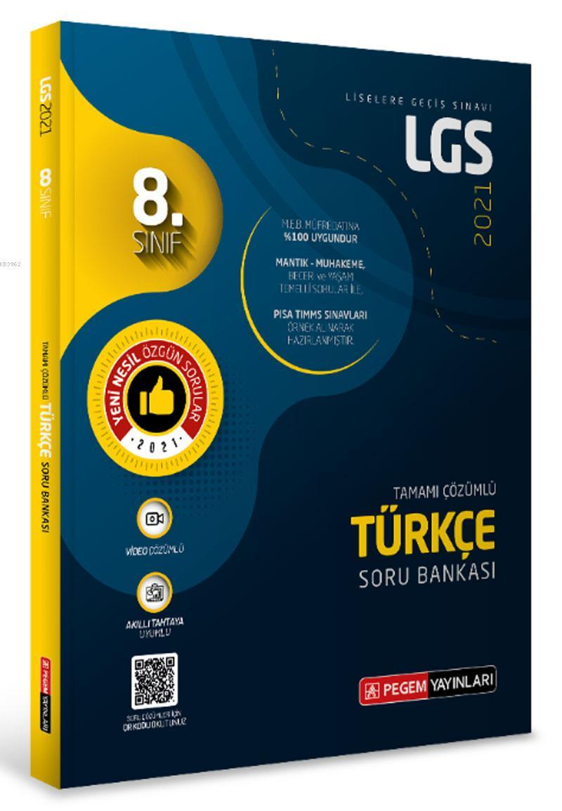 LGS Türkçe Tamamı Çözümlü Soru Bankası