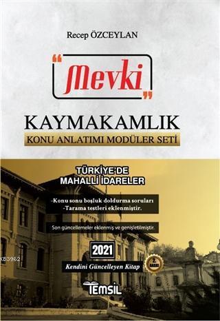 2021 Mevki Kaymakamlık Konu Anlatımı Modüler Seti - Türkiye'de Mahalli İdareler; Türkiye'de Mahalli İdareler