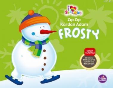Zıp Zıp Kardan Adam Frosty; Hikaye Boyama ve Aktivite Bir Arada