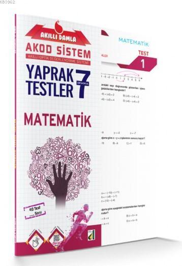 Akıllı Damla Matematik Yaprak Testler - 7.Sınıf; Akıllı Damla Akod Sistem (Akıllı Optik Değerlendirme Sistemi) Yaprak Testler