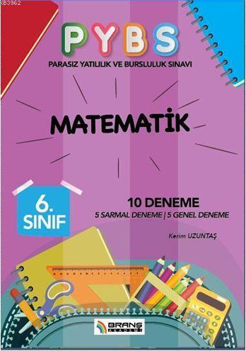 6. Sınıf PYBS Matematik 10 Deneme; 5 Sarmal Deneme - 5 Genel Deneme