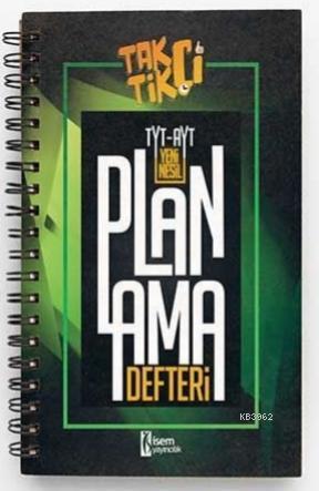 İsem 2021 TYT- AYT Taktikçi Yeni Nesil Planlama Defteri İsem Yayıncılık
